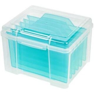 IRIS Greeting Card Storage and Craft Keeper (Option: Blue)