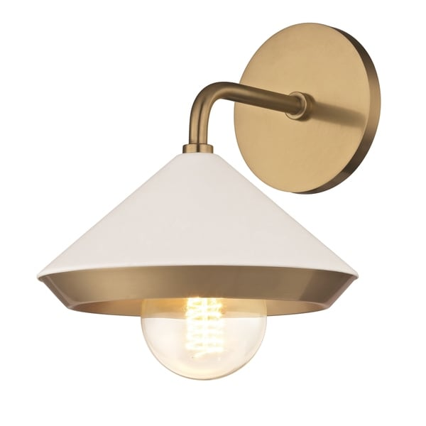 Shop Mitzi by Hudson Valley Marnie 1-light Aged Brass Wall ... on Aged Brass Wall Sconce id=43552