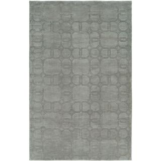 Echo Ice Grey Wool Handmade Area Rug (8' x 10')