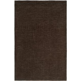 Echo Pine Bark Brown Wool Handmade Area Rug (2'6 x 10')