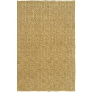 Echo Sand Gold Wool Handmade Area Rug (5' x 8')