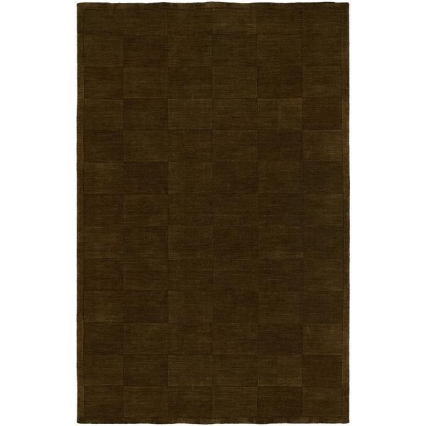 Echo Sienna Brown Wool Handmade Area Rug (2'6 x 10)