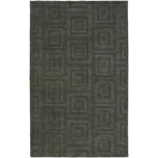 Echo Slate Wool Handmade Area Rug (2'6 x 10')