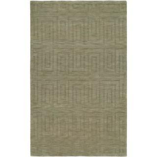 Echo Stone Olive Wool Handmade Area Rug (9' x 12')