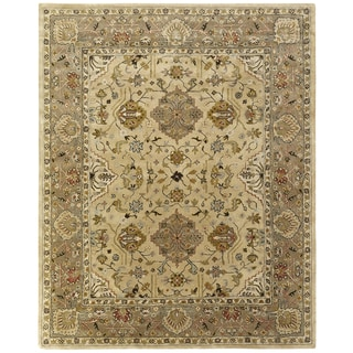 Empire Beige/Brown Wool Hand-tufted Area Rug (2'6 x 10')