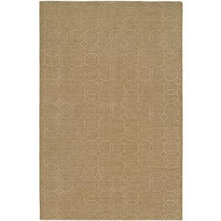 Echo Topaz Beige Wool Handmade Area Rug (9' x 12')