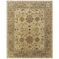 Empire Beige/Brown Wool Hand-tufted Area Rug (9' x 12') - 9' x 12'