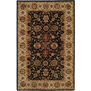 Empire Black/Ivory Hand-tufted Wool Accent Rug (2' x 3') - 2' x 3'