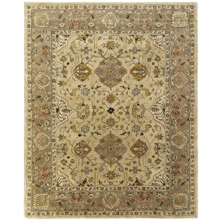 Empire Beige/Brown Wool Hand-tufted Area Rug (9'6 x 13'6)