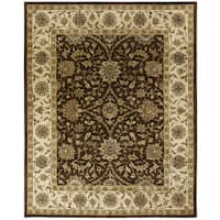 Empire Brown/Ivory Hand-Tufted Area Rug (9'6 x 13'6)