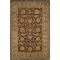 Empire Brown/Light Blue Wool Hand-tufted Area Rug (2' x 3') - 2' X 3'