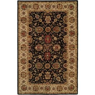 Empire Black/Ivory Wool Hand Tufted Area Rug - 9' x 12'
