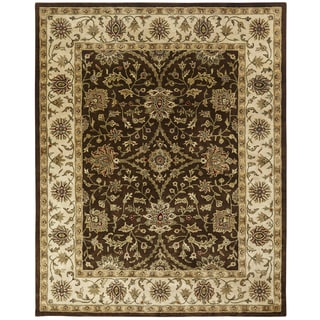 Empire Brown/Ivory Hand-tufted Wool Runner Rug (2'6 x 10')