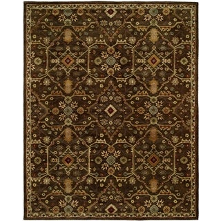 Empire Chocolate Wool Hand-tufted Area Rug (2' x 3') - 2' x 3'