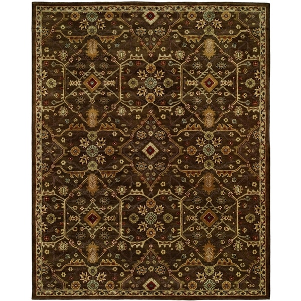 "Empire Chocolate Wool Handtufted Area Rug - 2'6"" x 10'"