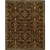 Empire Chocolate Wool Handtufted Area Rug - 2'6 x 10'