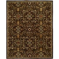 Empire Chocolate Wool Hand-tufted Area Rug (9'x12')