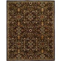 Empire Chocolate Wool Hand-tufted Area Rug (9'x12') - 9' x 12'