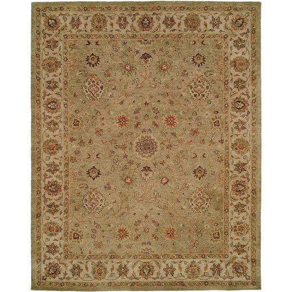 Empire Green Ivory Hand Tufted Area Rug On Sale Overstock 17119752