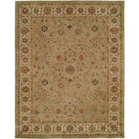 Empire Green/Ivory Wool Hand-tufted Area Rug - 2'6 x 10'