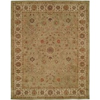 """Empire Green and Ivory Wool Hand-tufted Area Rug (9'6x13'6) - 9'6"""" x 13'6"""""""