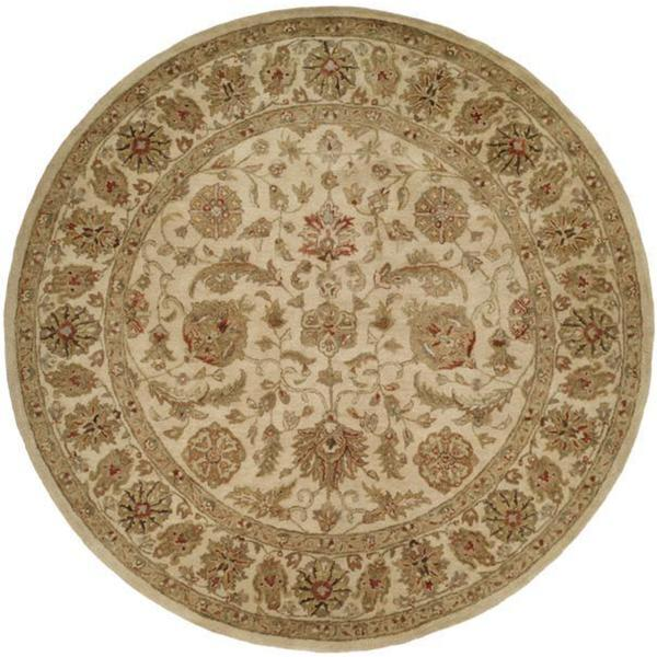 Empire Ivory Wool Hand-tufted Area Rug (6' Round)