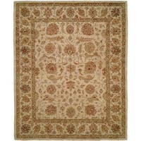 """Empire Ivory Wool Hand-tufted Area Rug (9'6 x 13'6) - 9'6"""" x 13'6"""""""