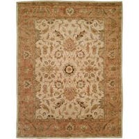 Empire Ivory/Peach Wool Hand-tufted Area Rug - 2'6 x 10'