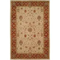 Empire Ivory/Rust Wool Hand-tufted Area Rug - 3'6 x 5'6