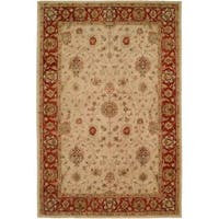 Empire Ivory and Rust Wool Hand-tufted Area Rug - 2'x3'