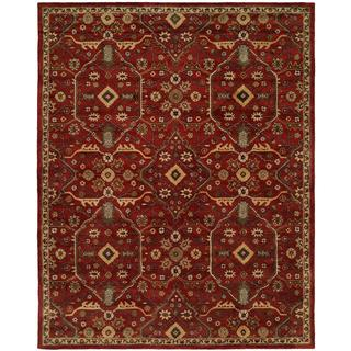 "Empire Russet Rust Wool Hand-tufted Area Rug (3'6 x 5'6) - 3'6"" x 5'6"""