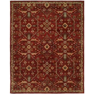 Empire Russet Wool Hand-tufted Runner Rug (2'6 x 10')