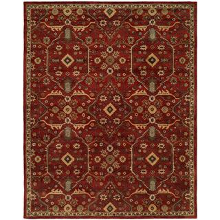 Empire Traditional Russet Brown Wool Hand-tufted Area Rug (9'6 x 13'6)
