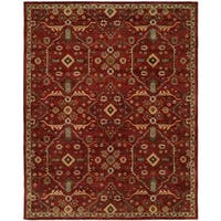 """Empire Traditional Russet Brown Wool Hand-tufted Area Rug (9'6 x 13'6) - 9'6"""" x 13'6"""""""