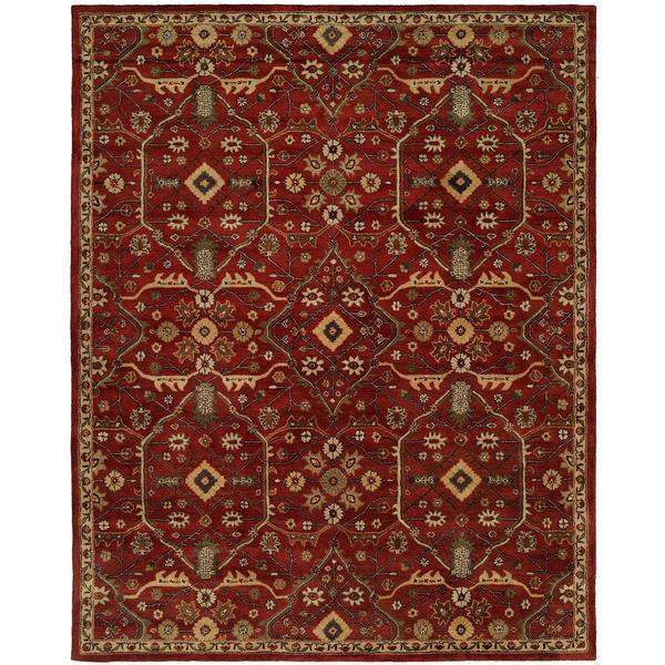 Empire Russet Red Wool Hand-tufted Area Rug (8' x 10') - 8' x 10'