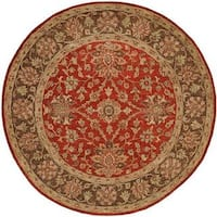 Empire Rust/Brown Wool Handtufted Area Rug - 6' Round
