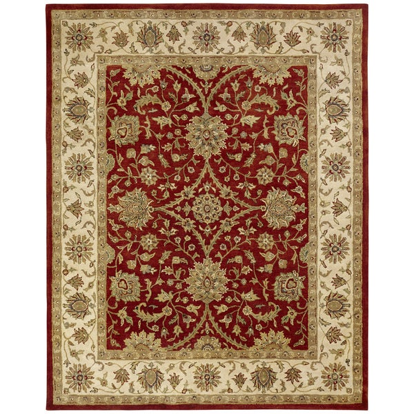 Empire Rust/Ivory Wool Hand-tufted Area Rug (2' x 3')