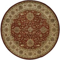 Empire Rust/Ivory Wool Hand-tufted Area Rug (6' x 6')