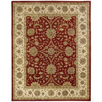 Empire Rust/Ivory Wool Hand-tufted Area Rug (6' x 9')