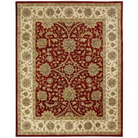 Empire Rust/Ivory Hand-tufted Wool Area Rug (9'6 x 13'6)
