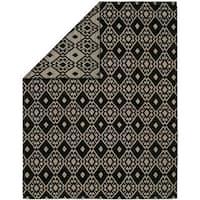 Endura Black/Lilac Wool Handmade Reversible Area Rug (10' x 14')