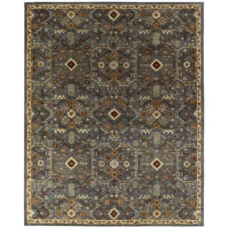 Empire Slate Blue Wool Hand-tufted Area Rug (2' x 3') - 2' x 3'