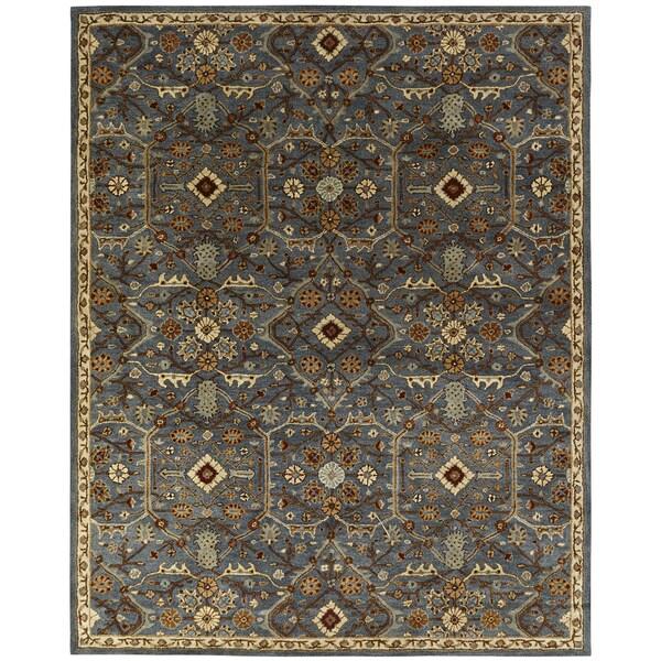 "Empire Slate Blue Wool Hand-tufted Area Rug (3'6 x 5'6) - 3'6"" x 5'6"""