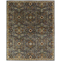 Empire Slate Blue Wool Hand-tufted Area Rug (6' x 6') - 6' Round
