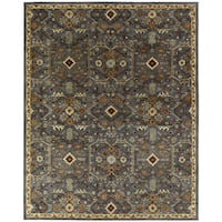 Empire Slate Blue Hand-tufted Wool Area Rug (8' x 10') - 8' x 10'