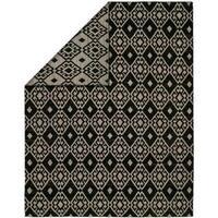 Endura Casual Black Wool Handmade Reversible Area Rug - 8' x 10'
