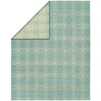 Endura Ivory/Baby Blue Handmade Reversible Area Rug - 8' x 10'