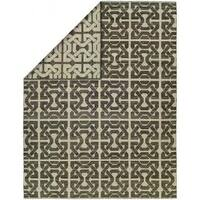 Endura Ivory/Black Handmade Reversible Area Rug - 8' x 10'