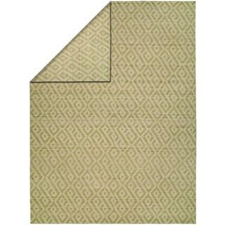 Endura Thyme/Linen Wool Handmade Reversible Area Rug (2' x 3')