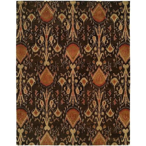 Heirloom Brown Wool Hand-tufted Area Rug
